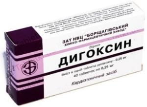 Дигоксин для лечения аритмии