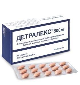 Как принимать препарат Детралекс при развитии варикоза